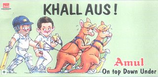 India's historic Cricket Test Match victory against mighty Australia at Adelaide - December '03