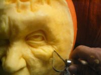 Roy Villafane's pumpkin carving