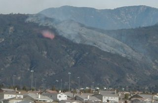 fire retardant dropped from plane