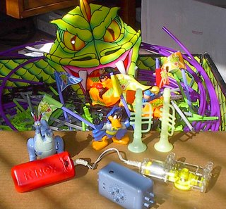 Duckman, k'nex motor, two glow in the dark horns, devon & cornwall