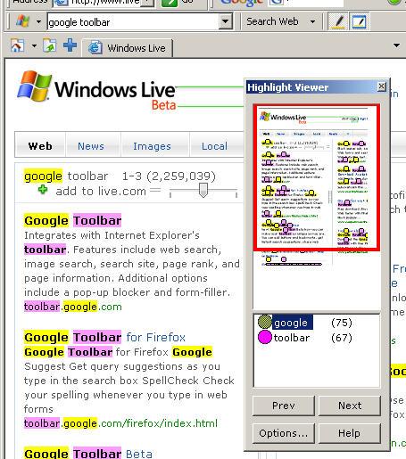Google Toolbar Vs MSN Search Toolbar