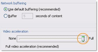 Turn off video acceleration