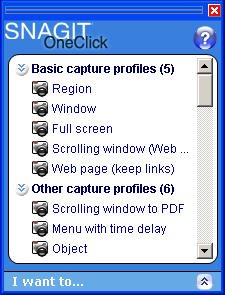 SnagIt onclick interface