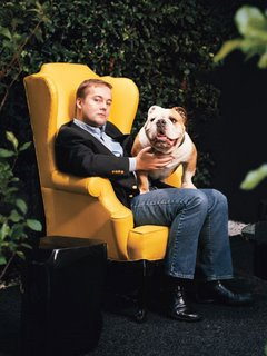 Jason Calacanis with bull dog
