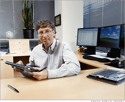 Bill Gates Office Picture