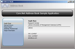 Address Book Application