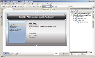 Address Book Application in Visual Studio 2005