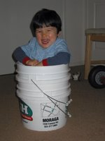 Lucas in a bucket