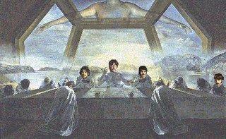 John, Paul, George e Ringo na última ceia de Dali