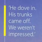 He dove in
