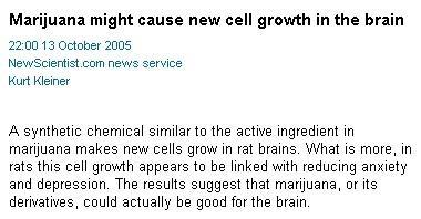 Marijuana é boa para o crescimento!