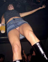 Upskirt On Drunk Party Girl Without An Panties On