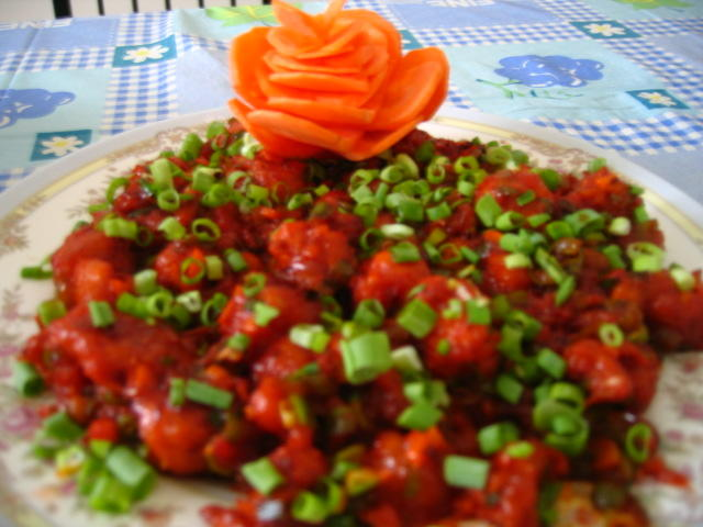 My dhaba cauliflower manchurian chinese style with video gobi cauliflower manchurian recipe chinese style video here serves 2 preparation time 10 minutes forumfinder Choice Image