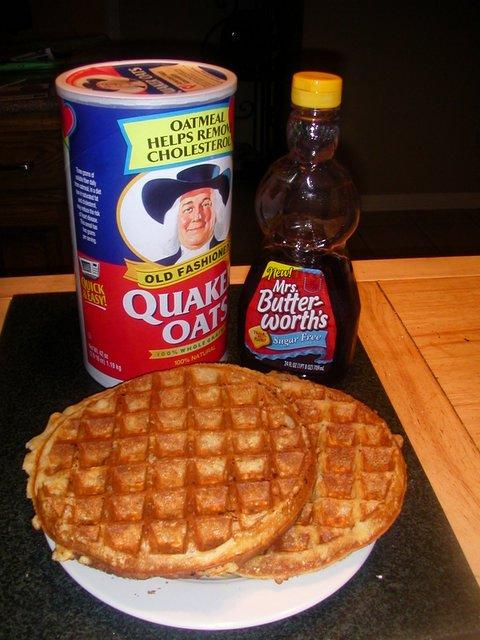 South Beach Diet Oatmeal Waffles