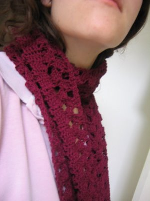 me wearing the scarf