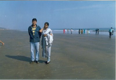 me and my husband at digha