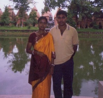 Me and my husband at Barddhaman 109 Shibmandir