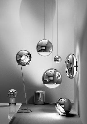 red door mirror ball collection tom dixon. Black Bedroom Furniture Sets. Home Design Ideas