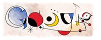 April 20, 2006 Google celebrates the birth anniversary of Spanish painter Joan Miro - Click image to view full size
