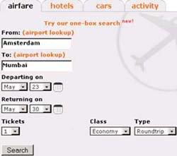 Mobissimo Airfare Search - Fig. 1 - www.mobissimo.com