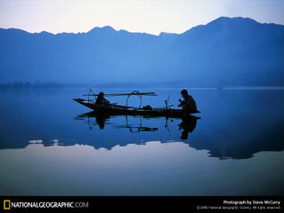 1998 picture of Dal Lake, Srinagar, Jammu and Kashmir