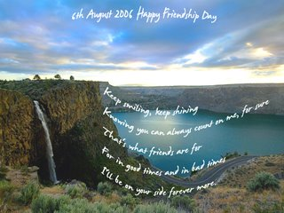 Greetings on Friendship Day - 6th August - Click image to enlarge