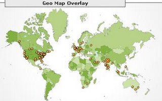 Snapshot of Geo Map overlay of Chirayu's blog - Footsteps on Clouds