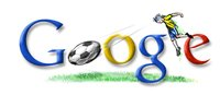 Google Brazil football world cup 2006 logo
