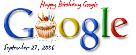 Google turns eight today - September 27, 2006