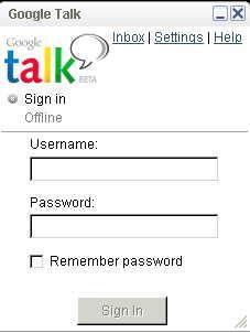 Google Talk - Google's Instant Messenger http://www.google.com/talk/