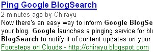 Ping Google BlogSearch http://blogsearch.google.com/ping