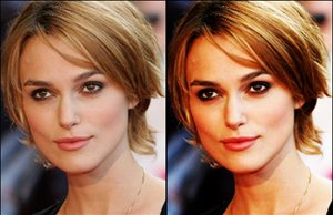 Keira Knightley gets a diffuse glow look with Photoshop