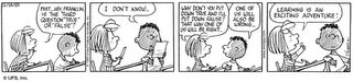 Peanuts - Learning is an exciting adventure, even if you go wrong