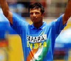 Rahul Dravid - Captain of the Indian Cricket team - Mosaic effect