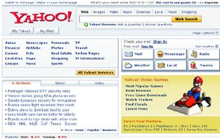 Browse Yahoo!'s new look home page