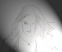Pencil sketch of beautiful Alessandra Ambrosio from Brazil