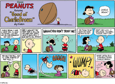 Classic Peanuts featuring Good ol' Charlie Brown - Never listen to a woman's tears