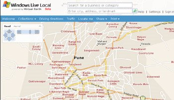 Microsoft Maps - Pune road map