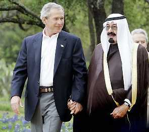 <br />Bush and Abdullah