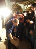 una foto di Ian MacKaye che vende i cd a fine concerto uguale a quella di Calvin Johnson la scorsa estate