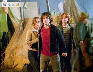 Hermione, Harry och Ron
