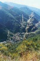 Au dessus de St-Sauveur, la vallée de la Tinée