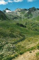 Avant la Grialetschhütte, regard en arrière vers le Scalettapass