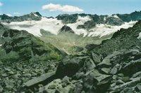 Au dessus de la Grialetschhütte, sur le chemin direction Col de la Flüela