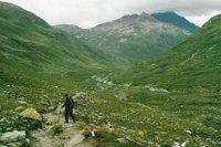 Après la Keschhütte, sur le chemin vers le Scalettapass