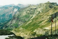 Depuis la cabane de la Bluemisalp au dessus du Hohtürli, vue vers Kandersteg