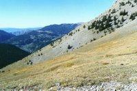 Depuis le Col des Moulinés, vue vers le sud ouest