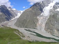 La moraine du Glacier du Miage