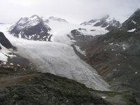 Devant le Braunschweiger Haus, le glacier Mittelberg Ferner