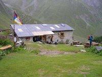 Le refuge de la Balme situé sur le GR5 entre le Col de Bresson et Valezan